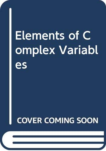 9780030144264: Elements of Complex Variables
