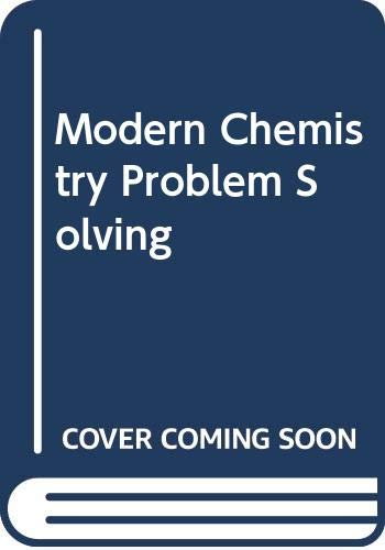 9780030145087: Modern Chemistry Problem Solving