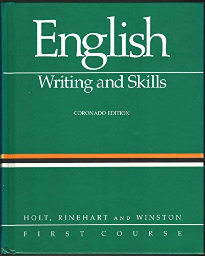 9780030146329: English: Writing and Skills, First Course