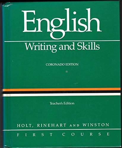 9780030146336: English Writing and Skills First Course Coronado Edition TE