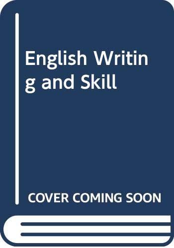 9780030146442: English Writing and Skill