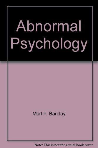 9780030148965: Abnormal Psychology