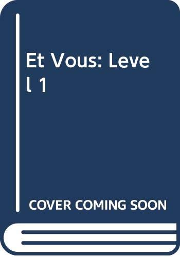 9780030149498: Et Vous: Level 1 (French Edition)