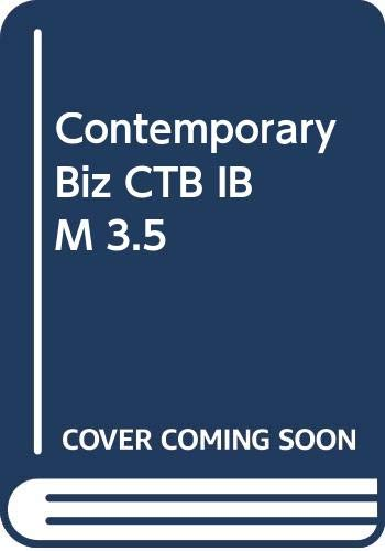 9780030151538: Contemporary Biz CTB IBM 3.5