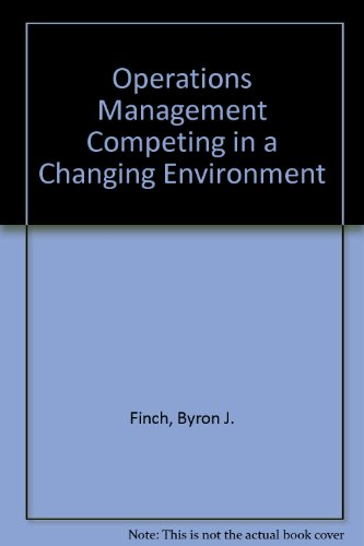 9780030152320: Operations Management Competing in a Changing Environment