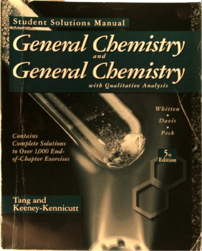 9780030156946: General Chemistry and General Chemistry With Qualitative Analysis: Student Solutions Manual