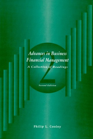 9780030157172: Advances in Business Financial Management: A Collection (The Dryden Press Series in Finance)