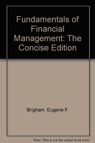 9780030159626: Fundamentals of Financial Management - Study Guide, The Concise Edition