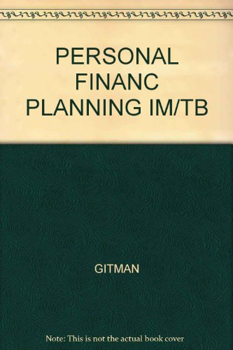 9780030159831: Personal Financial Planner