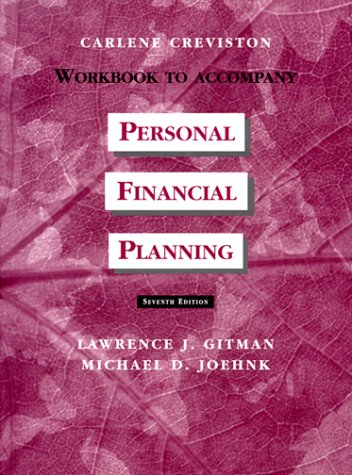 9780030159848: Personal Financial Planning: Study Guide and Workbook
