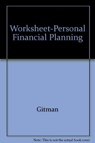 9780030159947: Worksheet-Personal Financial Planning