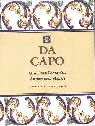 9780030162732: Da Capo: An Italian Review Grammar