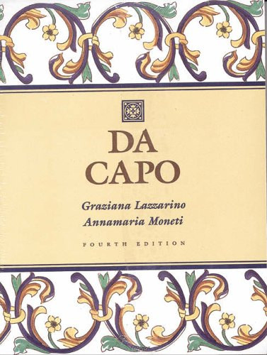 9780030162732: Da Capo: An Italian Review Grammar