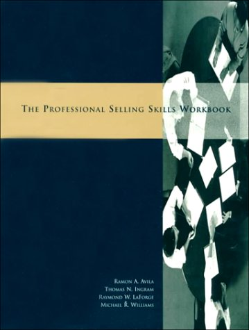 9780030163326: Professional Selling Workbook