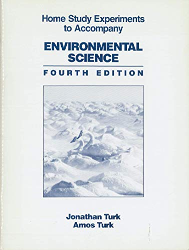 9780030166679: Home Study Experiments to Accompany: Environmental Science, 4th Edition
