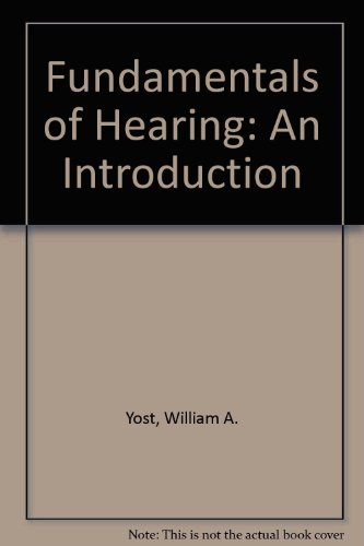 9780030167812: Fundamentals of Hearing: An Introduction