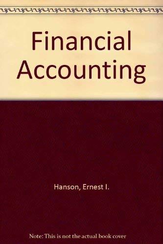 9780030168925: Financial Accounting