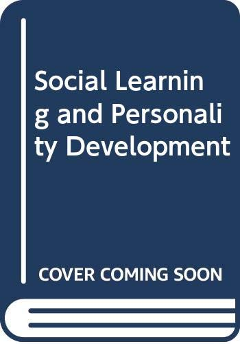 Social Learning and Personality Development: Bandura, Albert, Walters,