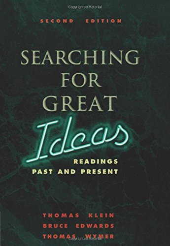 9780030177187: Searching for Great Ideas: Readings Past and Present