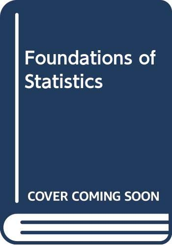 9780030177330: Foundations of Statistics