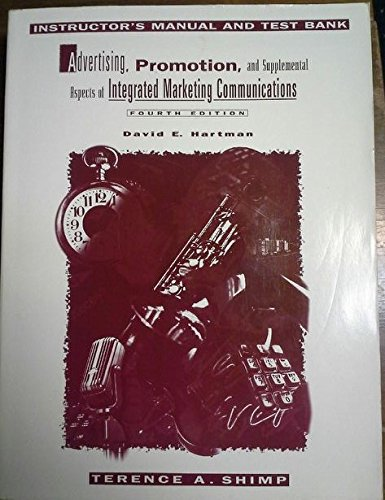 9780030177842: Advertising, Promotion and Supplemental Aspects of Integrated Marketing Communications