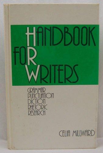 9780030177965: Handbook for Writers: Grammar, Punctuation, Diction, Rhetoric, Research