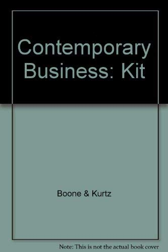 9780030179327: Contemporary Business: Kit