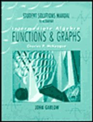 9780030181696: Student Solutions Manual to Accompany Intermediate Algegra Functions & Graphs