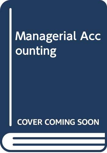 9780030182082: Managerial Accounting