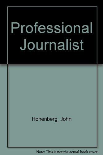 9780030182266: Professional Journalist