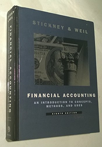 9780030182686: Financial Accounting: An Introduction to Concepts, Methods and Uses (Dryden Press Series in Accounting)