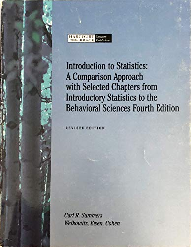 9780030183782: Introduction to statistics: A companion approach : with selected chapters from Introductory statistics to the behavioral sciences, fourth edition