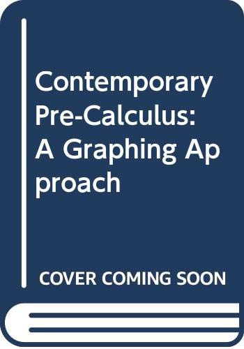 9780030185441: Contemporary Precalculus: Graphing Approach