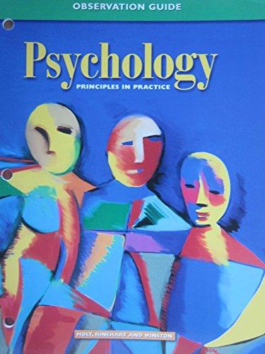 9780030185823: Observation Guide (Psychology: Principles in Practice)