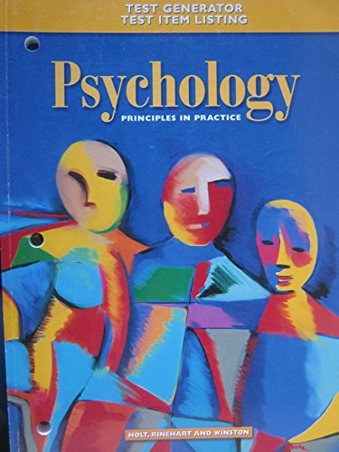 9780030185946: Psychology Principles in Practice, Test Generator