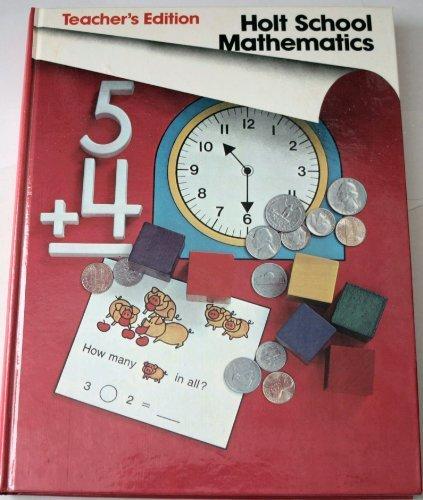 9780030185960: Holt School Mathematics Grade 1