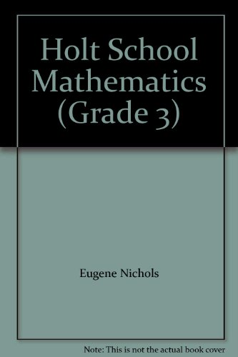 9780030186066: Holt School Mathematics (Grade 3)