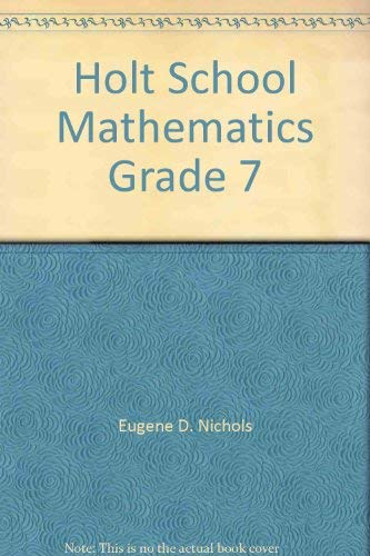 9780030186264: Holt School Mathematics Grade 7