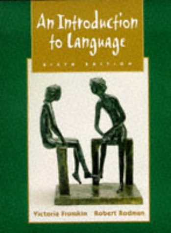 9780030186820: An Introduction to Language