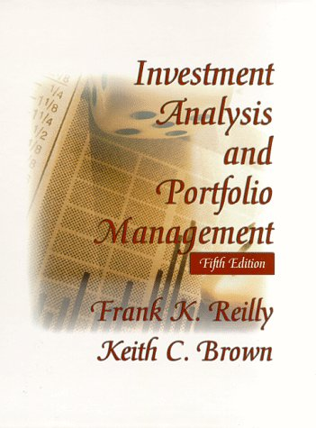 9780030186837: Investment Analysis and Portfolio Management (The Dryden Press series in finance)