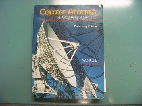 9780030187674: College Algebra Preliminary Edition