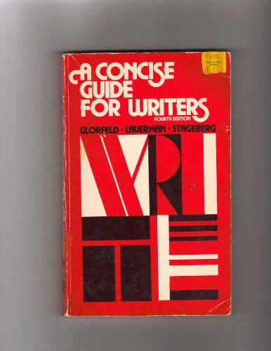 9780030188015: A Concise Guide for Writers