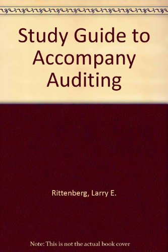 9780030188077: Study Guide to Accompany Auditing: Concepts for a Changing Environment