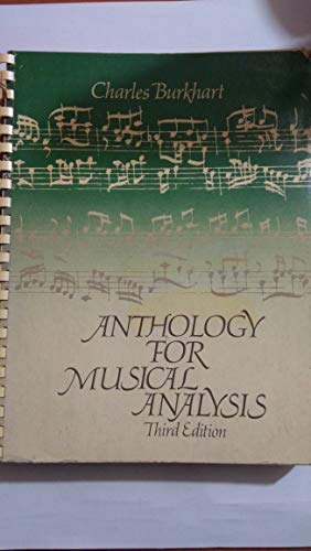 9780030188664: Anthology for Musical Analysis