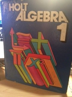 9780030189012: Holt Algebra One