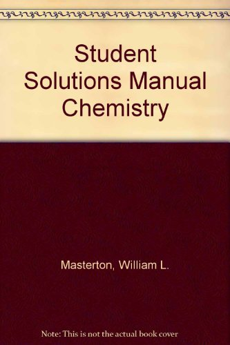 9780030189845: Student Solutions Manual Chemistry: Principles and Reactions