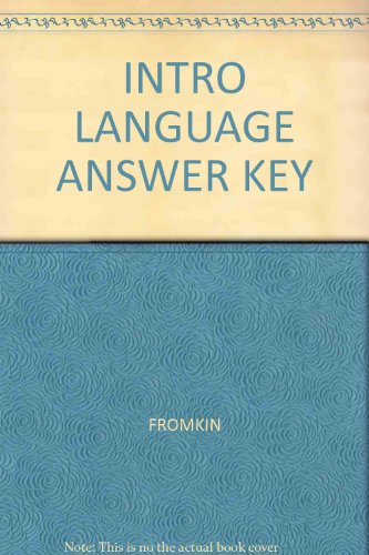 9780030189982: Introduction to Language Answer Key