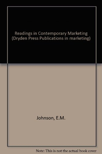 9780030190117: Readings in Contemporary Marketing
