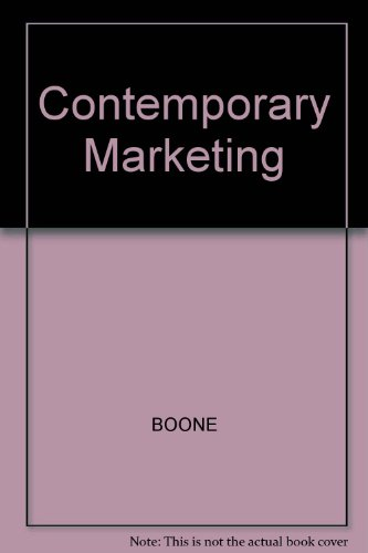 9780030190285: Contemporary Marketing
