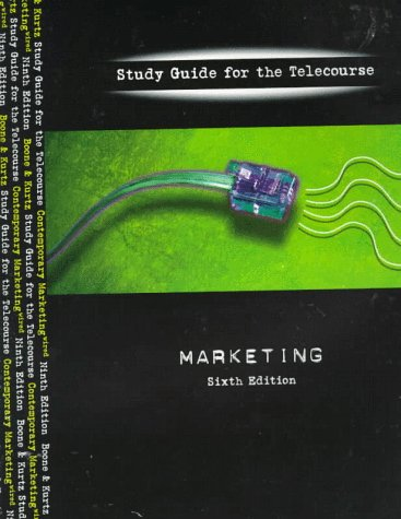 9780030190292: Marketing: Study Guide for the Telecourse